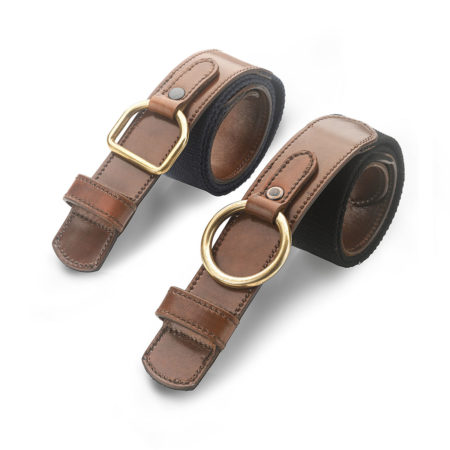 A02 - Unisex belt in calf and webbing