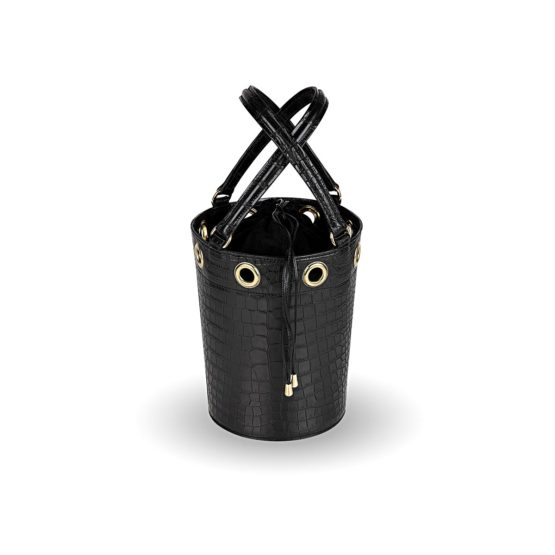 W01 - Medium bucket bag in crocodile
