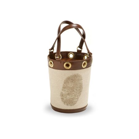 W01 - Medium bucket bag with fingerprint