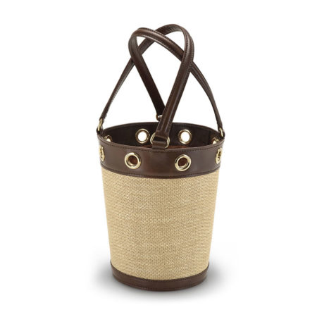 W01 - Medium bucket bag in raffia
