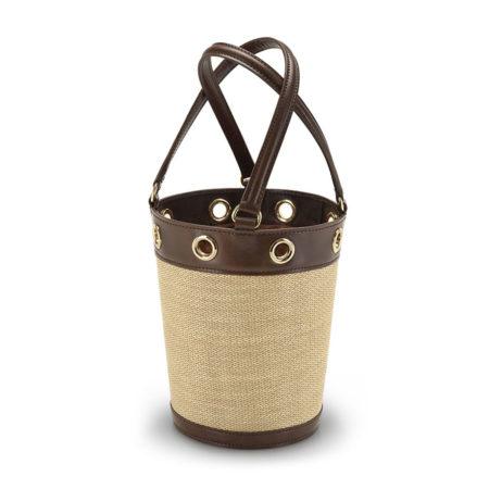 W01 - Medium bucket bag in raffia