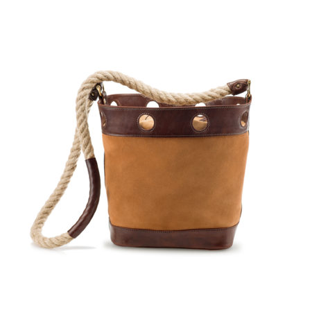W03 - XLarge bucket bag in suede with rope