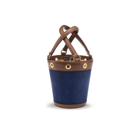 W01 - Small bucket bag in suede