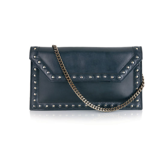 W08 - Studded pochette in calf