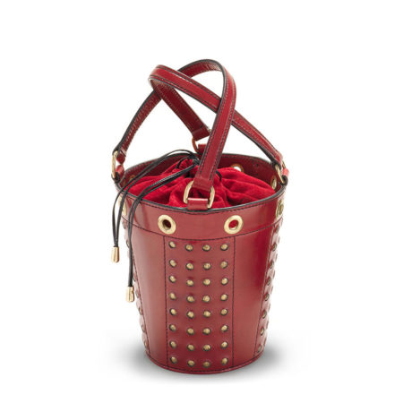 W01 - Medium studded bucket bag