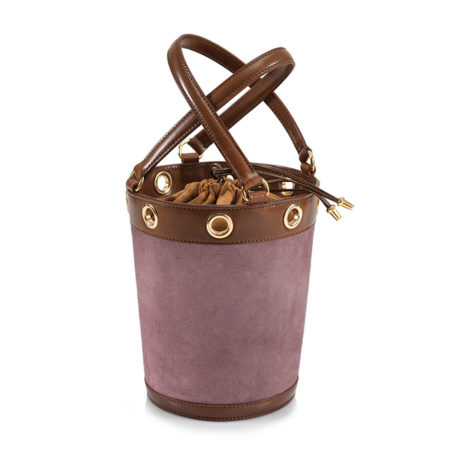 W01 - Medium bucket bag in suede