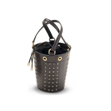 W01 - Small studded bucket bag